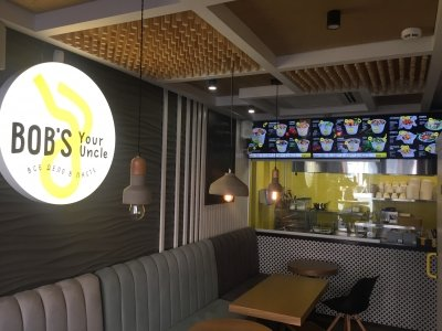 """Установка системы мультимедиа в кафе """"Bob's"""""""