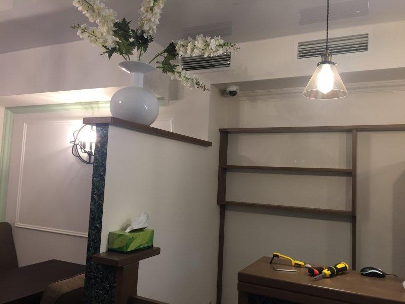 Установка системы видеонаблюдения в кафе МЁД