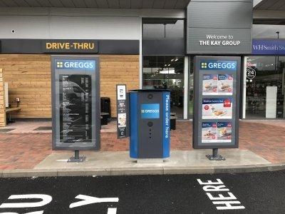 Установка системы Drive Thru в Greggs (Великобритания)